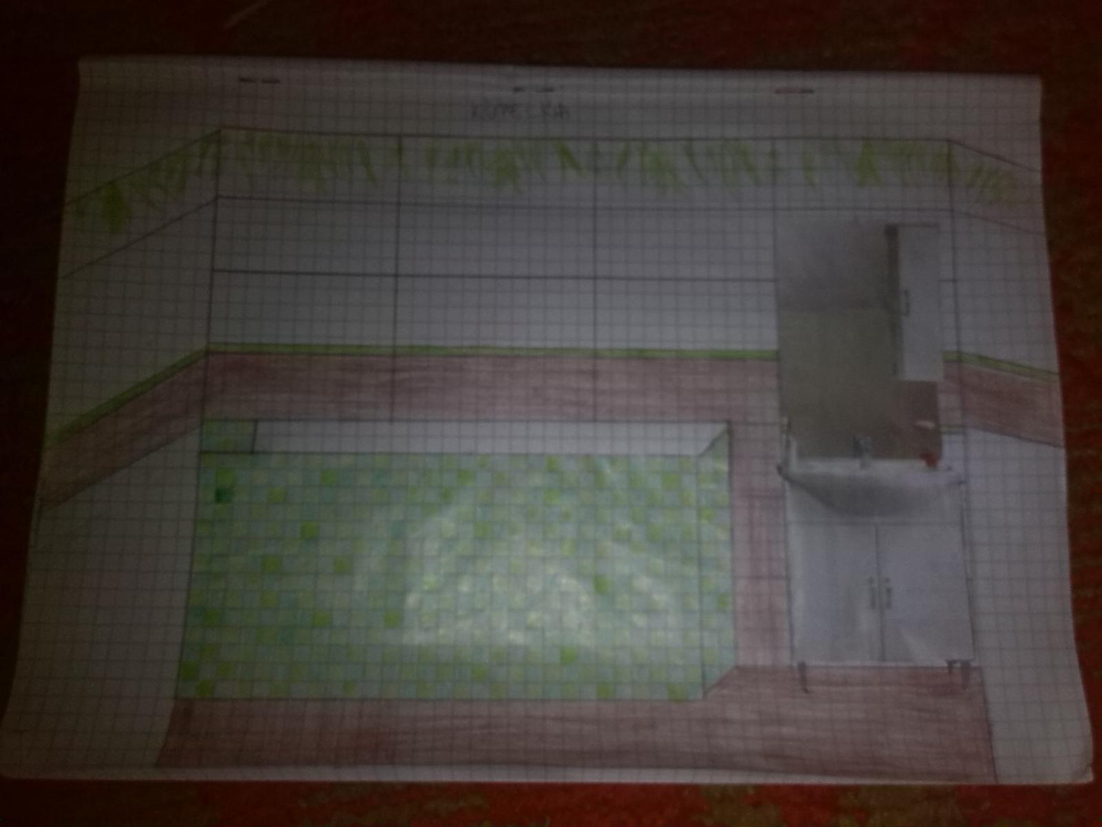 Wc-ko a kúpelňa - môj prvý náčrtok farieb kúpelne