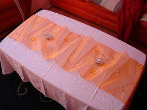 zkouška svat. stolu s koupenou organzou