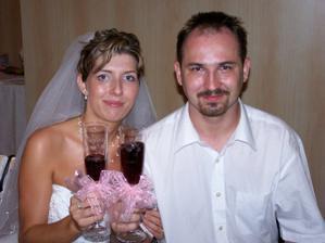 sklenice na zakázku s jménem a datumem svatby