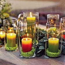 dekorace na stůl bude do zelena a oranžova