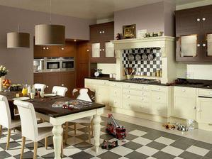 Tahle uzasna kuchyn ktera snoubi klasiku s modernou me uplne dostala.Dycha z ni teplo domova.