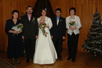 Ještě společné foto...s rodiči.