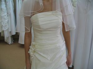 detail vybraných šatů..
