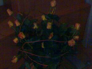 miláček mně ji posla ze své rozlučky, juuuuuu, nádhera.... 24 růží...