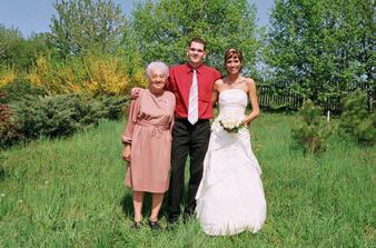 s babičkou a bráškou
