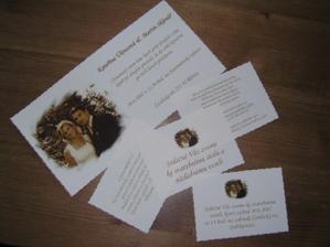 naše oznámení a zvací kartičky v reálu