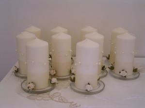svíčky na stůl - vlastní tvorba