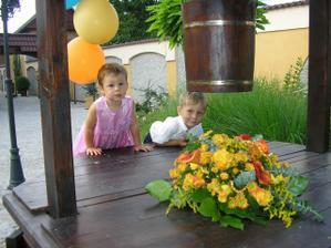 neteř Lucinka a synovec Zdenda
