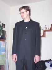Zkouška obleku,vůbec se mu nechtělo