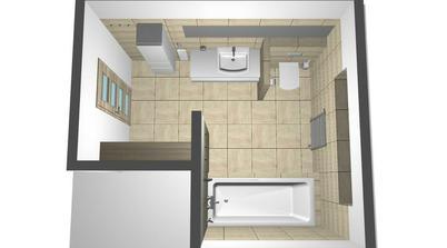 vizual.  kúpelňa na II.podlaží