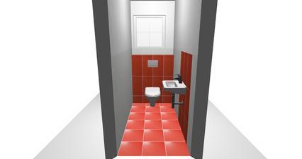 A tiež WC ale obklad bude až po strop