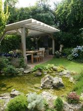 pergola v záhrade