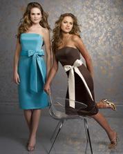 Podobné zelinkavé šaty budou mít sestřičky družičky