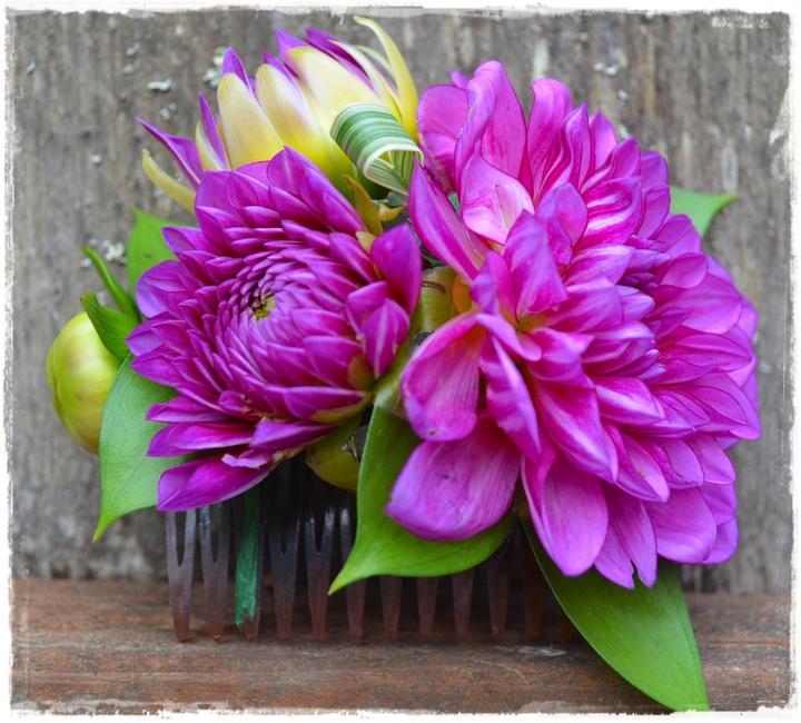 Wedding flowers 2013 - krásný hřebínek do vlasů