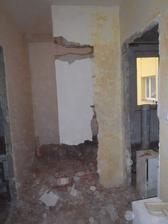 Vybourání stěny do šatny