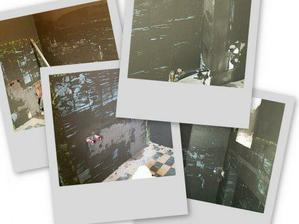 Den čtvrtý - a řada přišla na zedníka/obkladače... koupelna se změnila v černou díru :-o