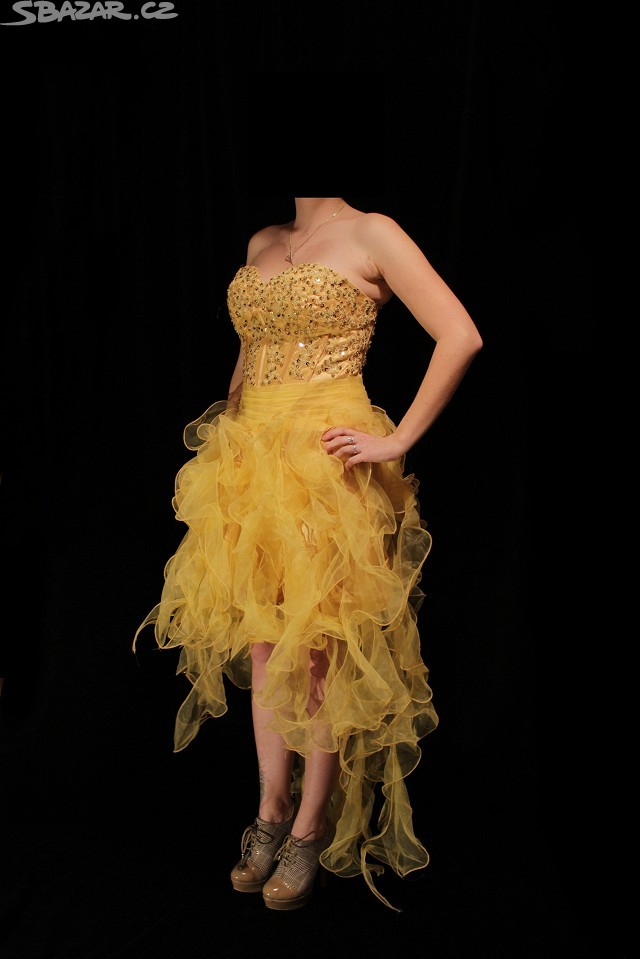 Žluté plesové šaty - Obrázek č. 1