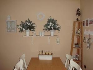 jedáleň vo vianočnom