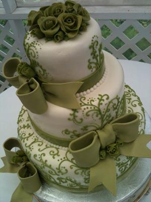 Moje představa - chtěla bych tento dortík, ale ve fialkové a bez mašlí