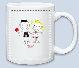 přemýšlím, že si necháme udělat nějaké svatební hrníčky na ranní kávičku :)