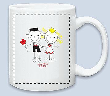 Moje představa - přemýšlím, že si necháme udělat nějaké svatební hrníčky na ranní kávičku :)