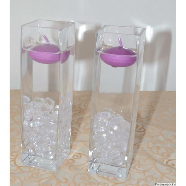 Moje představa - něco podobného budeme mít i my .. jen fialkové kamínky a bílé svíčky