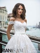 Kvetinové svadobne šaty IVORY, 36