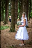 Retro svatební šaty pod kolena, 40