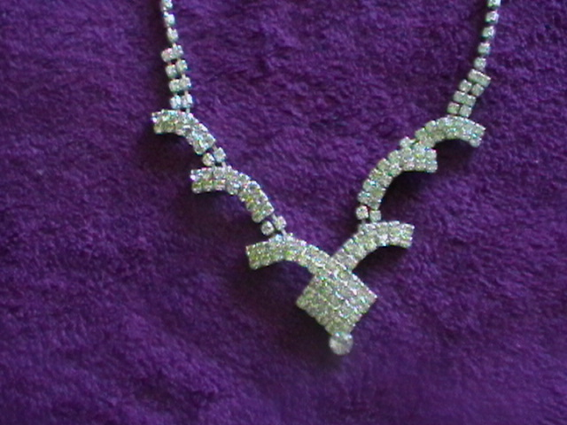 štrásový setík náhrdelník a náušnice - Obrázok č. 2