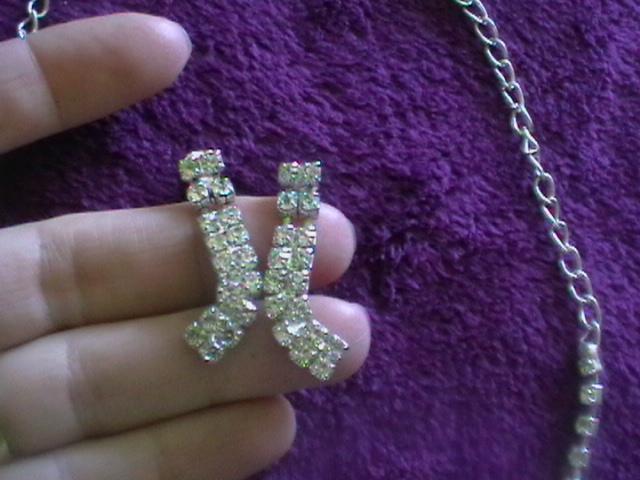 štrásový setík náhrdelník a náušnice - Obrázok č. 3