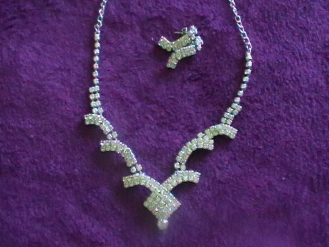štrásový setík náhrdelník a náušnice - Obrázok č. 4