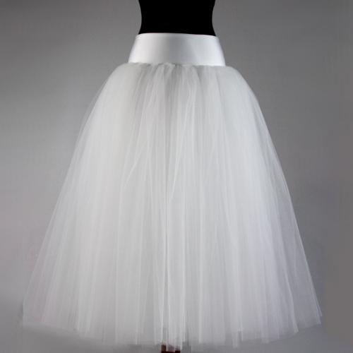 Tylová sukně s vhodným vrškem místo svatebních šat... 6a2a06f8ce