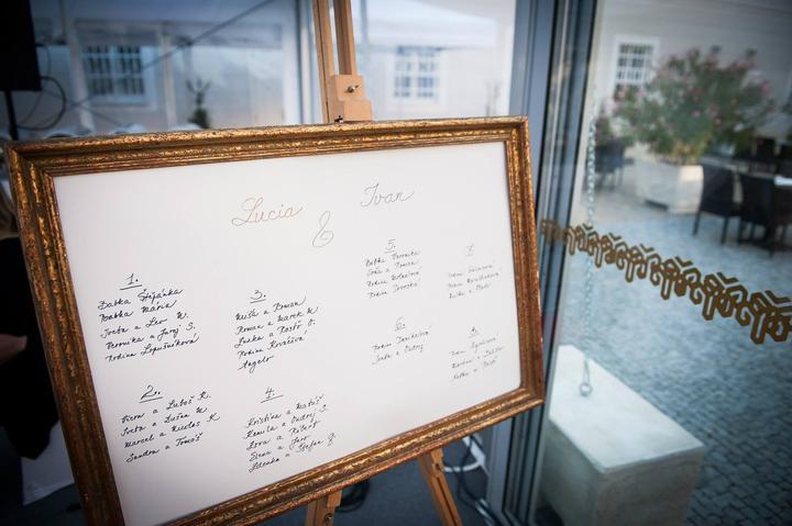 Hand made prípravy - Náš obraz padol za obeť :) moja krstná, ktorá mala pod palcom vítanie hostí, prácne vypísala zasadací poriadok.
