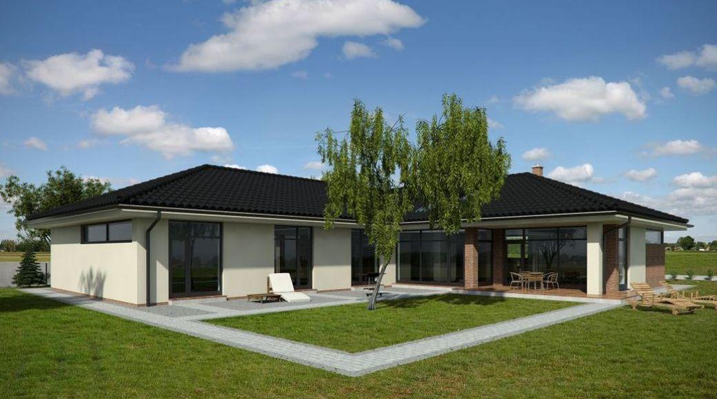 Nový favorit - bungalov 5+1 270m2 - zezadu