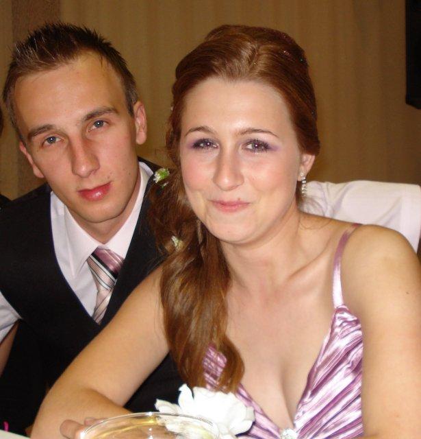 Janka a Janko..  uz sa to blizi  :)) - ja a moj milacik na sestrinej svadbe