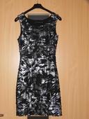 čierno-sivé šaty, 34