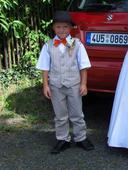Oblek pro chlapce vel. 122/128, 122
