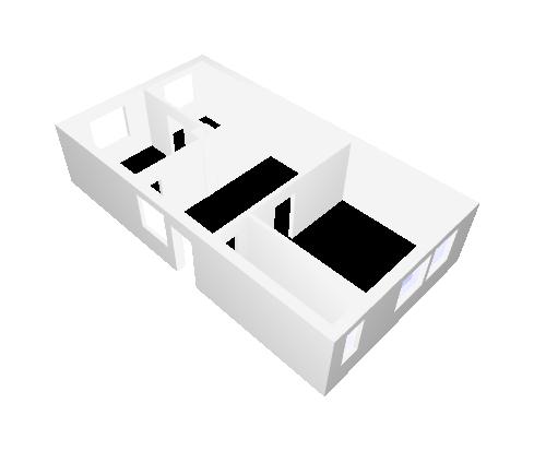 Rekonštrukcia starého domčeka - 3D pôdorys súčasného  stavu .