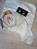 kravata, vreckovka a manžetové gombíky,
