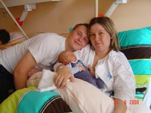 Můj budoucí manžel, já a náš syn