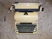 Retro, starý psací stroj,