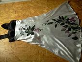 Spoločenské šaty, dlhé, vzor kvet, 40