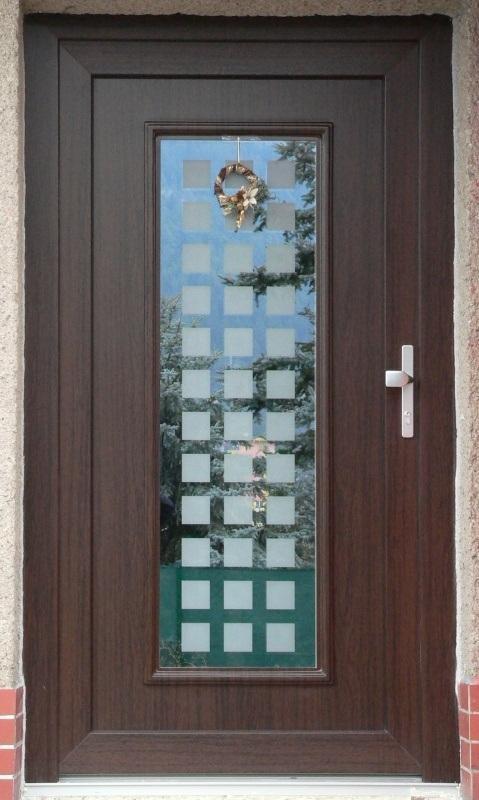 vchodove_dvere_gavaplast - GAVA 101- plastová dveřní výplní s pískováním P3x12