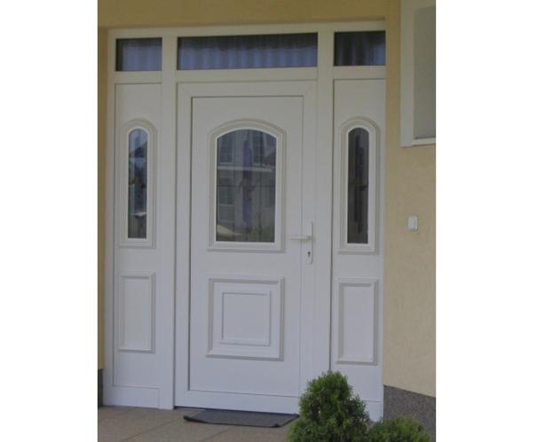 vchodove_dvere_gavaplast - GAVA 012+GAVA 012/2- plastová dveřní výplní s vitráží Abstrakt