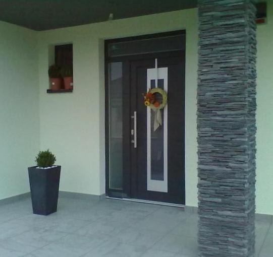 Vchodové dveře s HPL dveřní výplní - Vchodové dveře s HPL dveřní výplní GAVA 912a