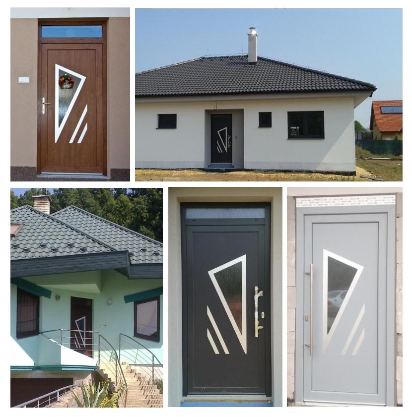 Vchodové dveře s HPL dveřní výplní - Vchodové dveře s HPL dveřní výplní GAVA 691- realizace