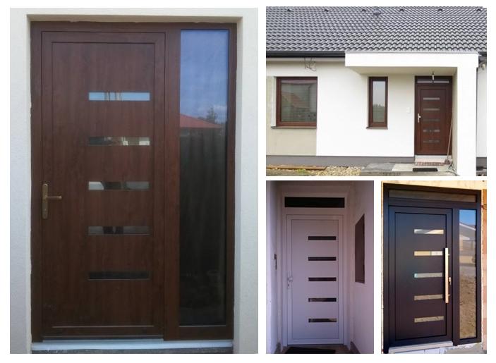 Vchodové dveře s HPL dveřní výplní - Realizace dveřní výplně GAVA 916