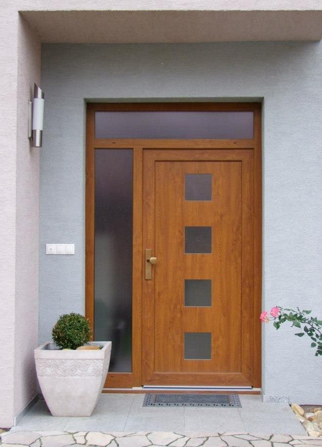 Vchodové dveře s HPL dveřní výplní - Vchodové dveře s HPL dveřní výplní GAVA 961