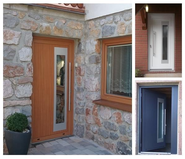 Vchodové dveře s HPL dveřní výplní - Vchodové dveře s HPL dveřní výplní GAVA 913a