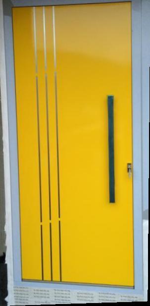 vchodove_dvere_gavaplast - Predsadená hliníková dverná výplň - atypická. Madlo H6, montované do plochy